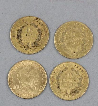 *Quatre pièces de 10 FF en or