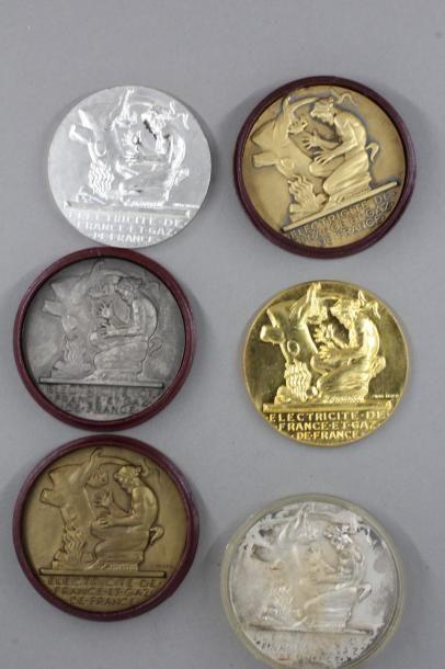 Henry DROPSY d'après  Lot de six médailles...