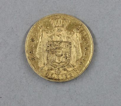 *Une pièce de 40 lire 1814 en or