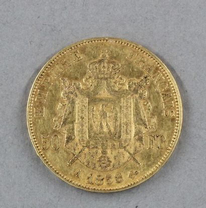 *Une pièce de 50 FF 1858 en or