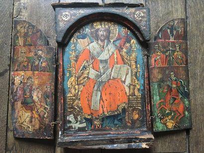 Le Christ en Majesté    Tryptique d'origune...