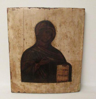 La Vierge d'Intercession.  Icône russe, c.1800,...