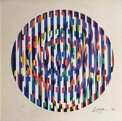 Yaacov AGAM (1928-)  Composition circulaire...