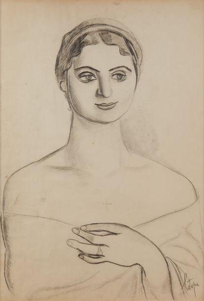 Louis LATAPIE (1891-1972)  Jeune femme au...