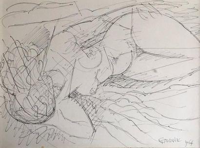 Marcel GROMAIRE (1892-1971)  Femme nue allongée...