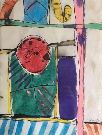 Jean Rustin (né en 1928) Composition Encre...