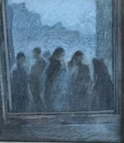JKL (XXe siècle)  Personnage devant la fenêtre...