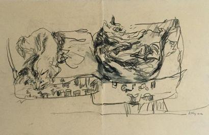 J. DIGBY (XXe siècle)  Les chats  Crayon...