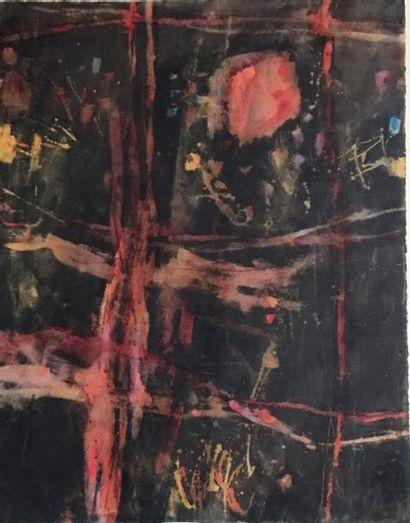 Jean RUSTIN (né en 1928)  Composition abstraite...