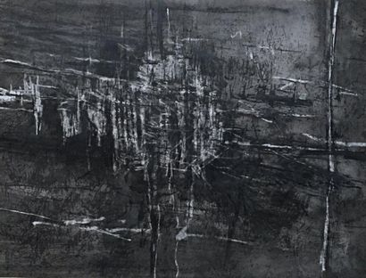 O. LUIS ( ??? )  Composition noire et blanche...