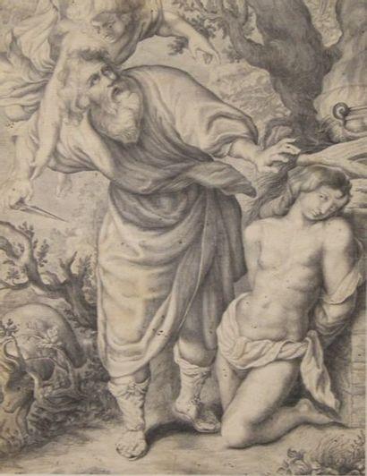 Ecole du XVIIIème s. Le sacrifice d'Abraham...