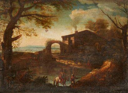 École italienne du XVIIIe siècle  Cavalier...