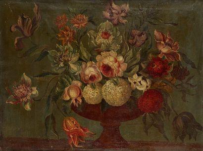École moderne dans le goût du XVIIIe siècle  Fleurs...