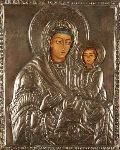 La Vierge Hodighitria Icône d'origine grecque,...