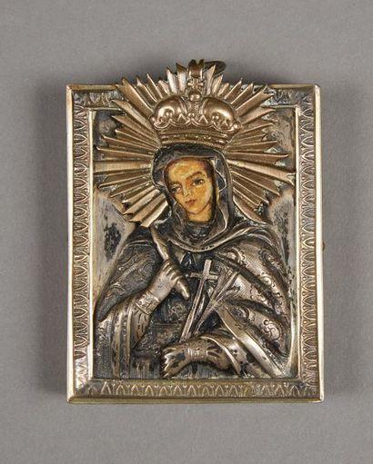 Vierge de Miséricorde (?) Icône de voyage...