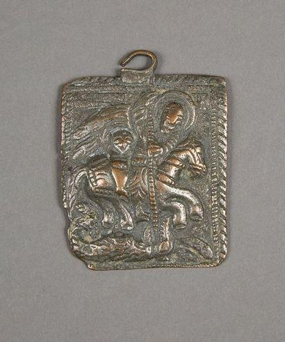 Saint Georges terrassant le dragon Icône...