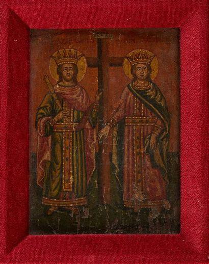 Saint Konstantin et Sainte Hélène entourant...