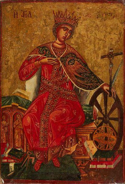 Sainte Catherine d'Alexandrie Icône grecque...
