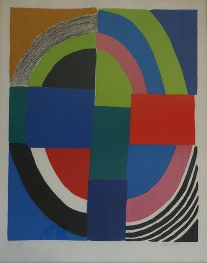 Sonia DELAUNAY (1885-1979) Rythme coloré...