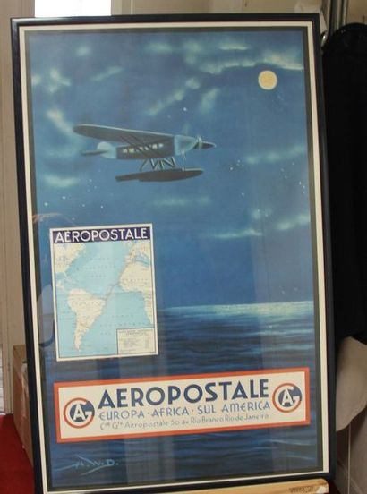 Cie Gie AEROPOSTALE Quatre affiches AEROPOSTALE-...