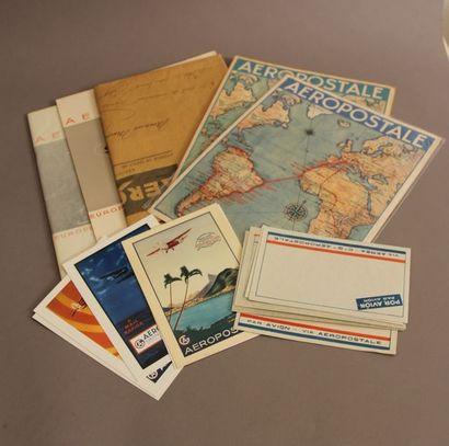 Lot de documents sur l'Aéropostale