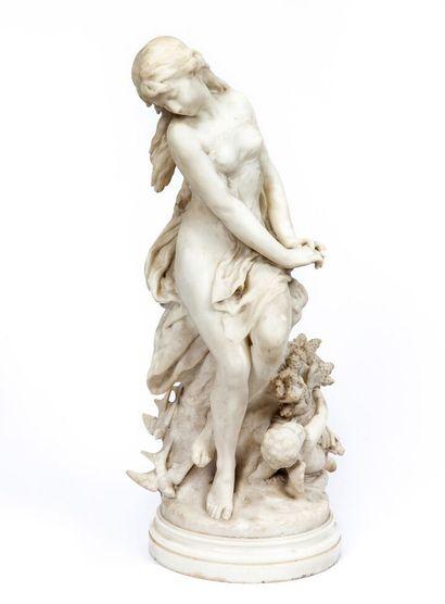Mathurin MOREAU (1822-1912). Femme et amour,...