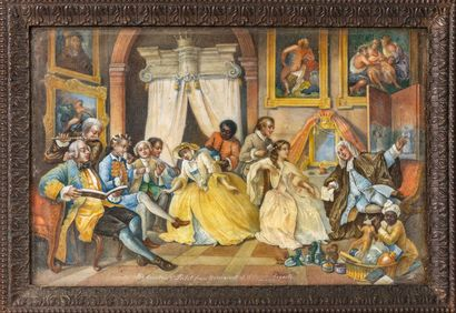 William HOGARTH (1697-1764), d'après.  The...