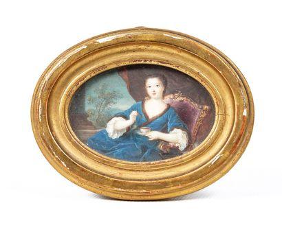 École française du XVIIIème siècle.  Femme...