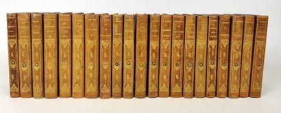 Ensemble de vingt-et-un ouvrages reliés,...