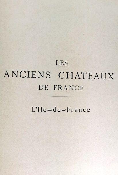 Anciens Châteaux de France,  Paris, F. Contet, circa 1910-1930.  Neuf volumes in-folio,...
