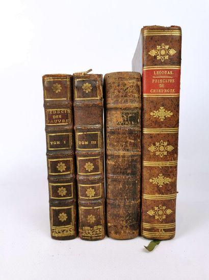 [MEDECINE]. Lot de quatre ouvrages, comprenant...