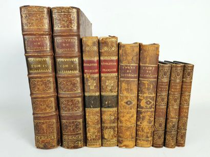 Lots d'ouvrages du XVIIIème et XIXème siècle...