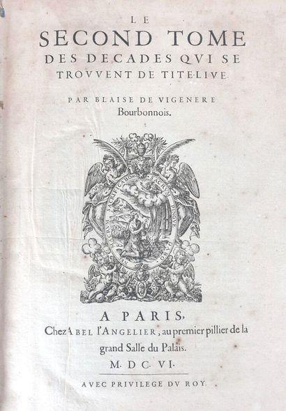 BLAISE DE VIGENERE (1523-1596).  Le second...