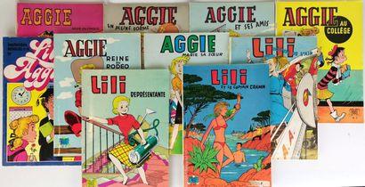 AGGIE ET LILI.  Lot comprenant quatre albums...