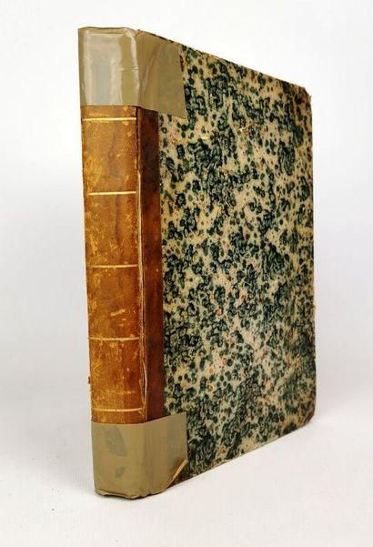 ANONYME (?).  Intéressant manuscrit du XIXème...