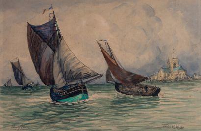 Frank WILL (1900-1951).  Barfleur, navires...