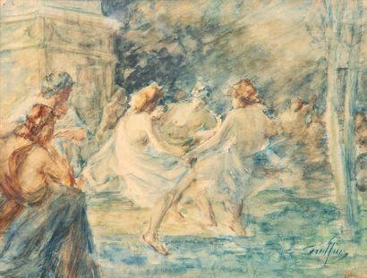 Gabriel GRIFFON (1866-1938).  Baigneuses....