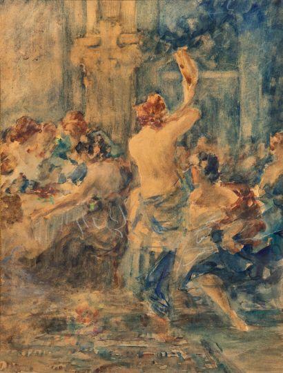 Gabriel GRIFFON (1866-1938).  Danseuse au...