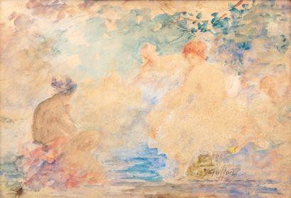 Gabriel GRIFFON (1866-1938).  Divinité au...