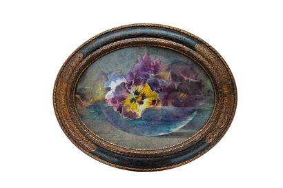 Blanche ODIN (1865-1957).  Pensées dans une...