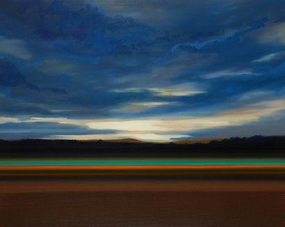 * Olivier MASMONTEIL (Né en 1973)  Horizon  Huile sur toile signée au dos et datée...