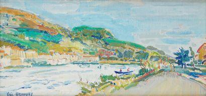 Paul BRAUDEY (Né en 1930)  L'Isère, 1962...