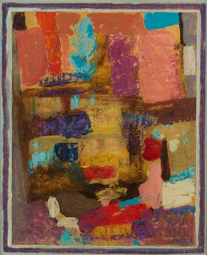 * Roland BIERGE (1922-1991)  Palmyre  Huile...