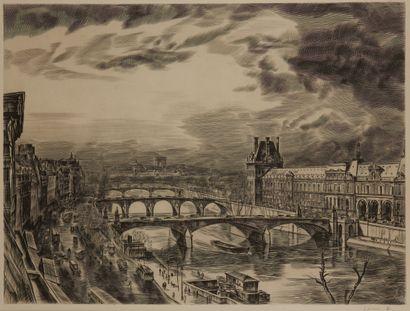Albert DECARIS (1901-1988)  Vues du Louvre...