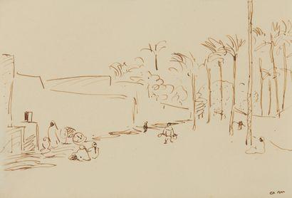 * Albert MARQUET (1875-1947)  Rue animée...