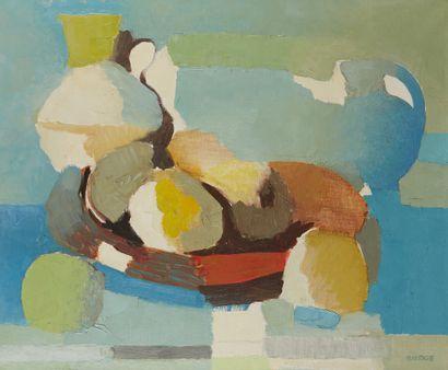 * Roland BIERGE (1922-1991)  Plateau de fruits...