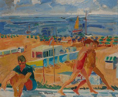 Paul BRAUDEY (Né en 1930)  La Plage, 1969...