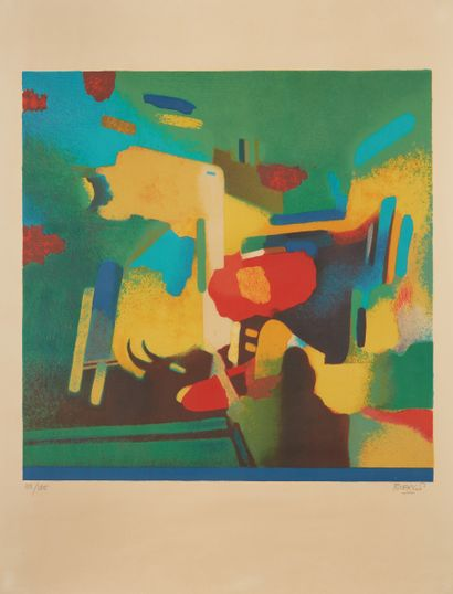 * Roland BIERGE (1922-1991)  La Dame au Chapeau...