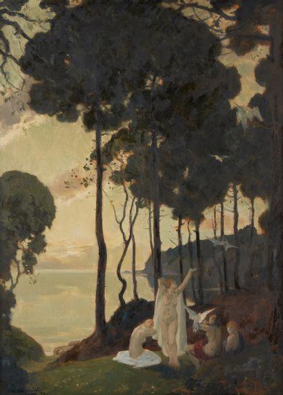 Paul CHARAVEL (1877-1961)  Baigneuses, 1927...