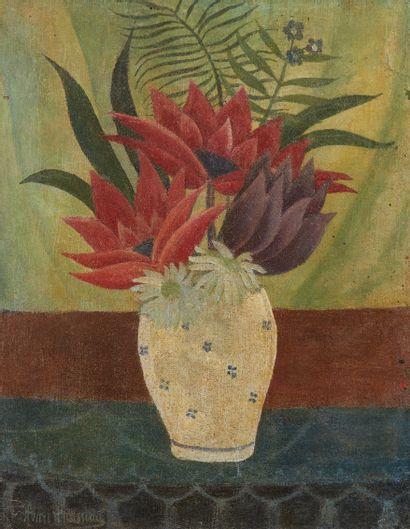 LE DOUANIER ROUSSEAU (1844-1910)  Vase de...